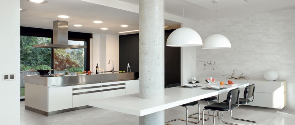 Signorino: ArchitectResin-BerlinGrey-40x80-amb-dining