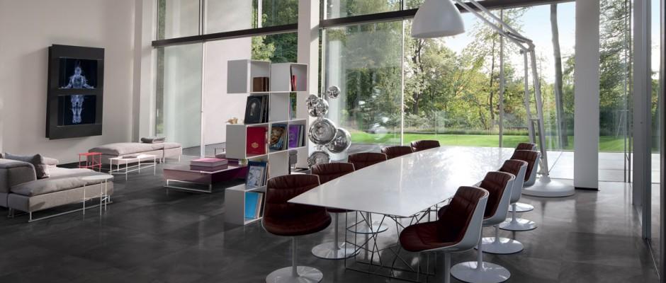 Signorino: ArchitectResin-BruxellesBlack-lapp-60x60-amb-living