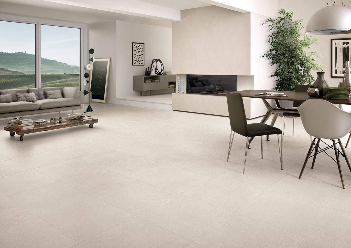 Signorino: Limestone-White-60x60-Amb-Living