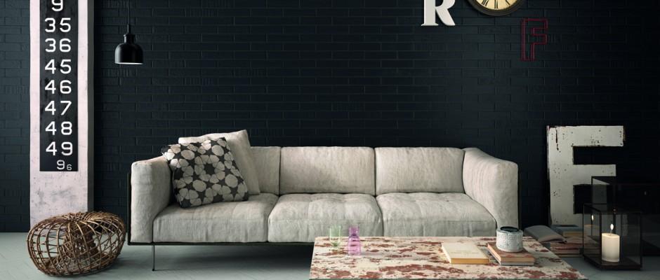 Signorino: BrickDesign Carbone-Seta 6x25 Amb Living