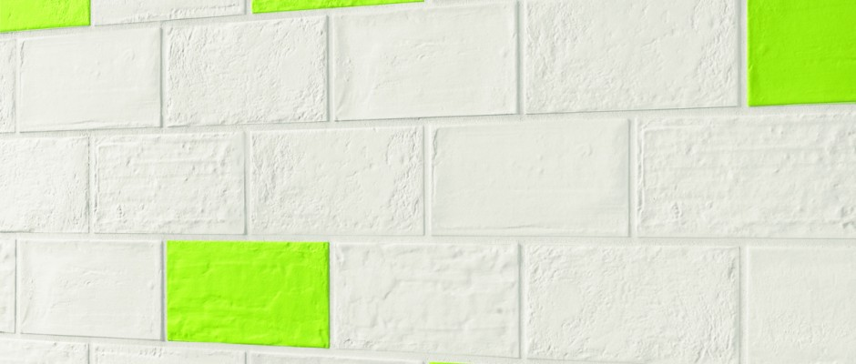 Signorino: BrickDesign Gesso-Paint Verde 12,5x25 Riv