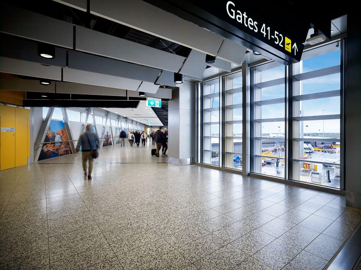 Melbourne Airport Terrazzo Tile Floor