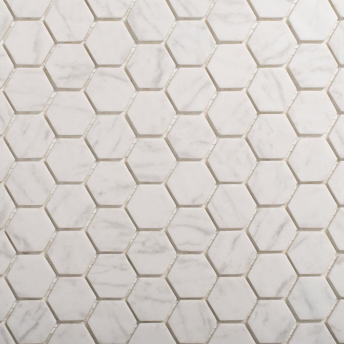 Signorino: Carrara Mosaic Hexagonal