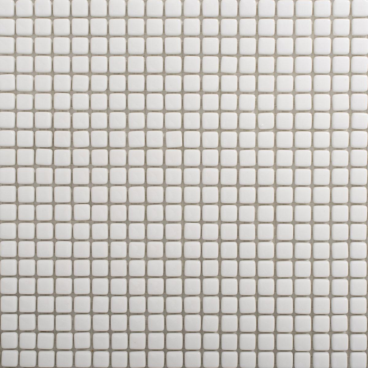 Signorino: Enameled Glass White Gloss 10×10