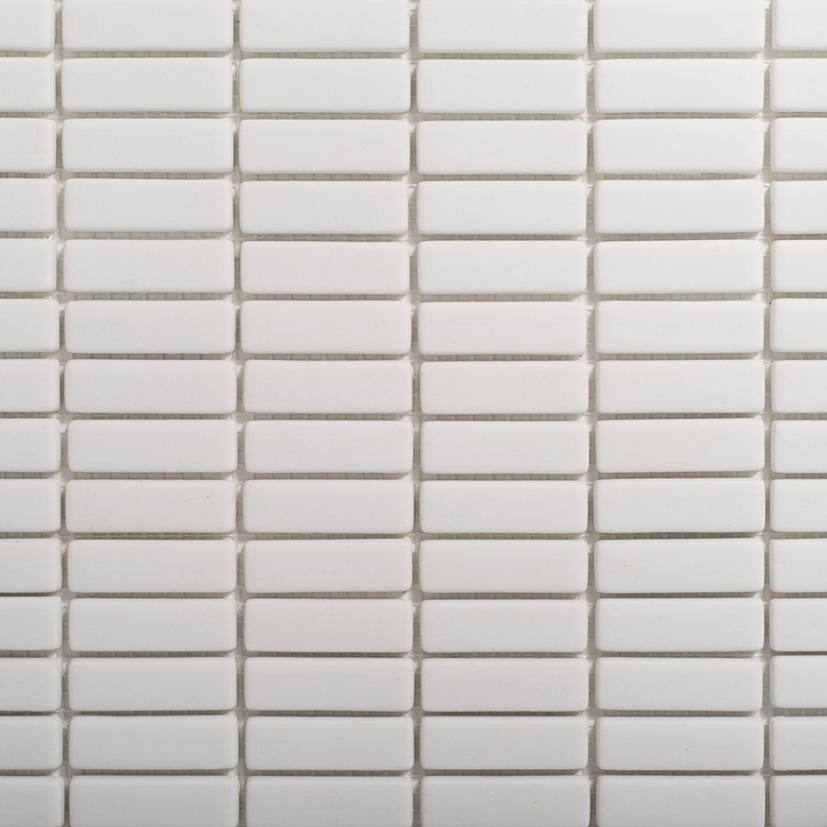 Signorino: Enameled Glass White Matte 15×48