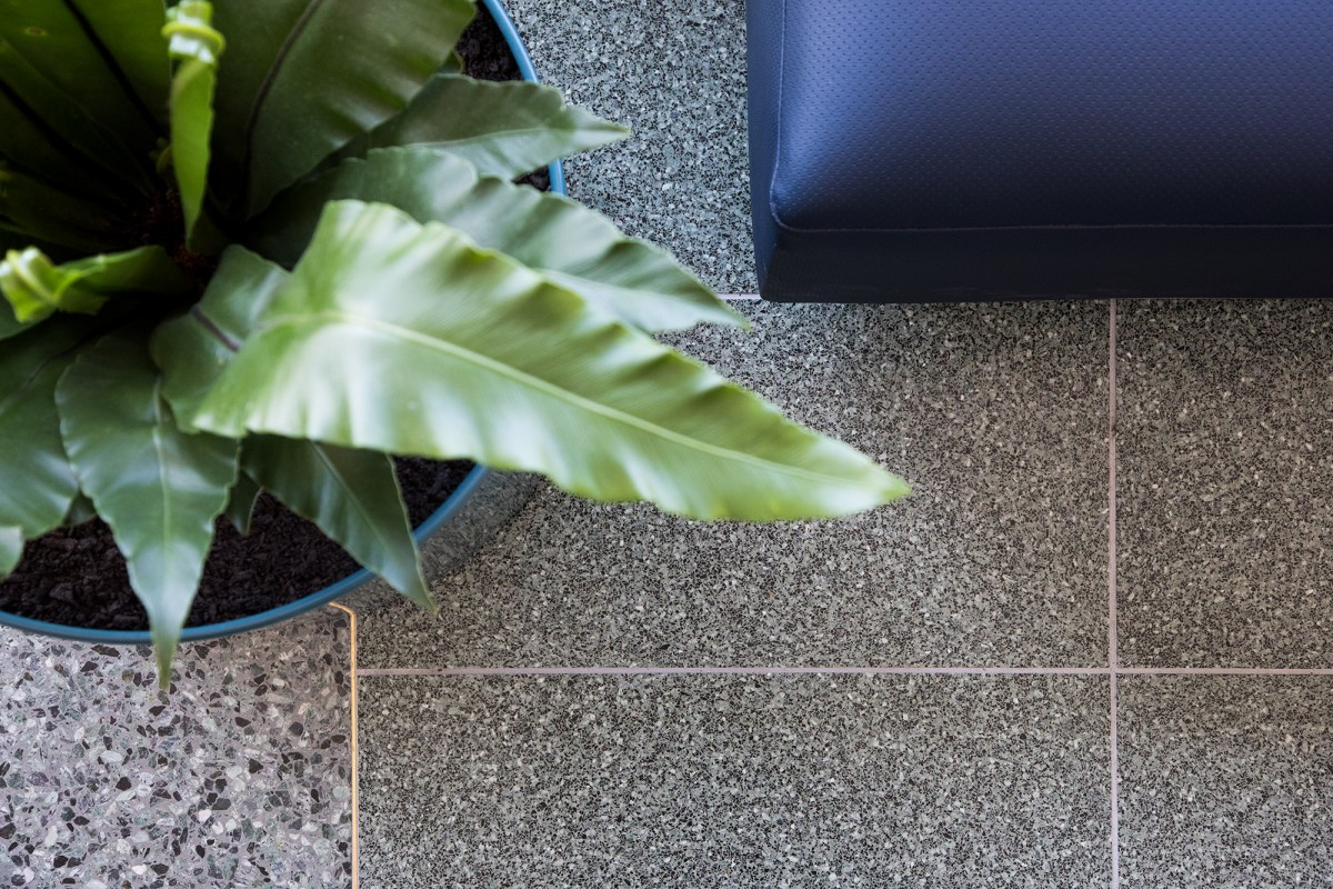 Green Terrazzo Tiles on Floor