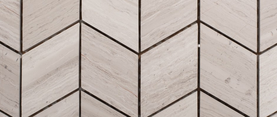 Signorino: Wooden White Chevron