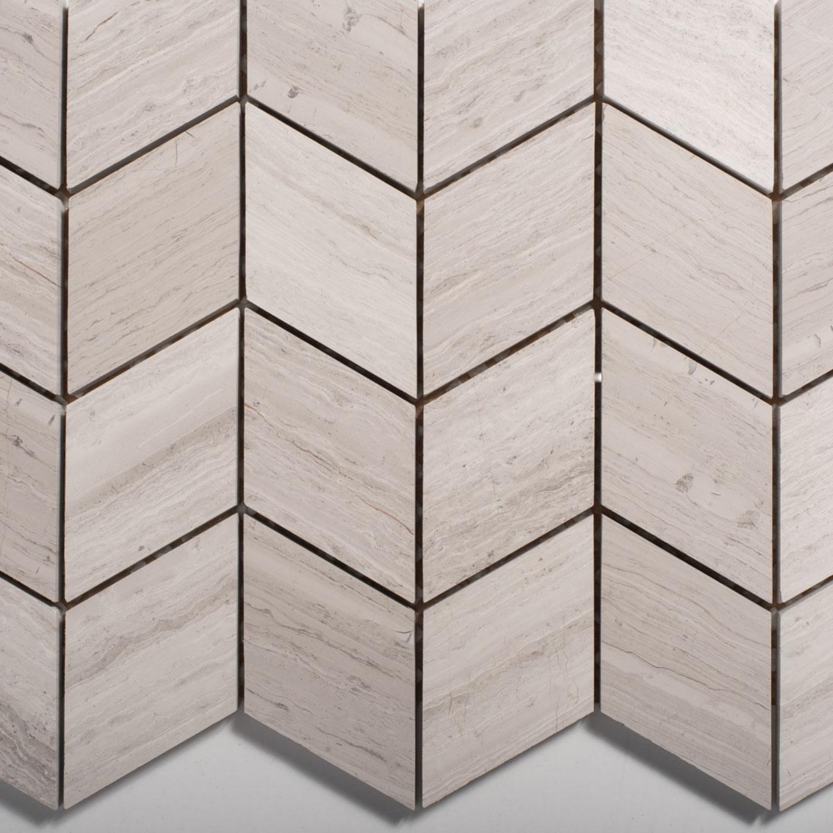 Signorino: Wooden White Chevron