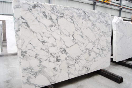 A Large slab of Arabescato, a natural stone