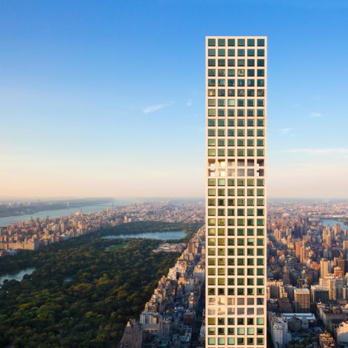 Arial view of 432 Park Avenue
