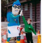 The Drain man, The Dain man mascot, Primary School Student,