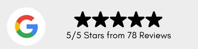 Stars, google reviews, black font